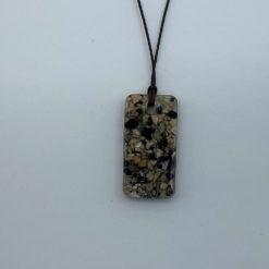 EM Keramik Harz Halsband rechteckig